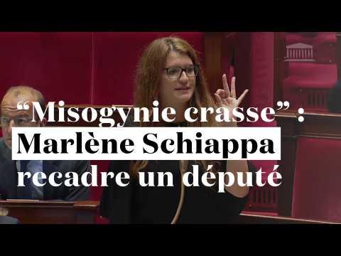 """Marlène Schiappa dénonce la """"misogynie crasse"""" d'un député"""
