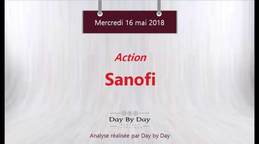Illustration pour la vidéo Action Sanofi : sortie haussière du rectangle - Flash analyse IG 16.05.2018