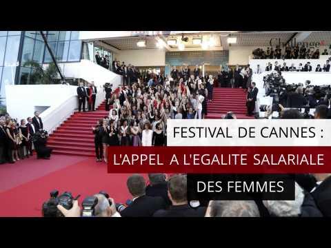 Festival de Cannes: l'appel à l'égalité salariale des femmes