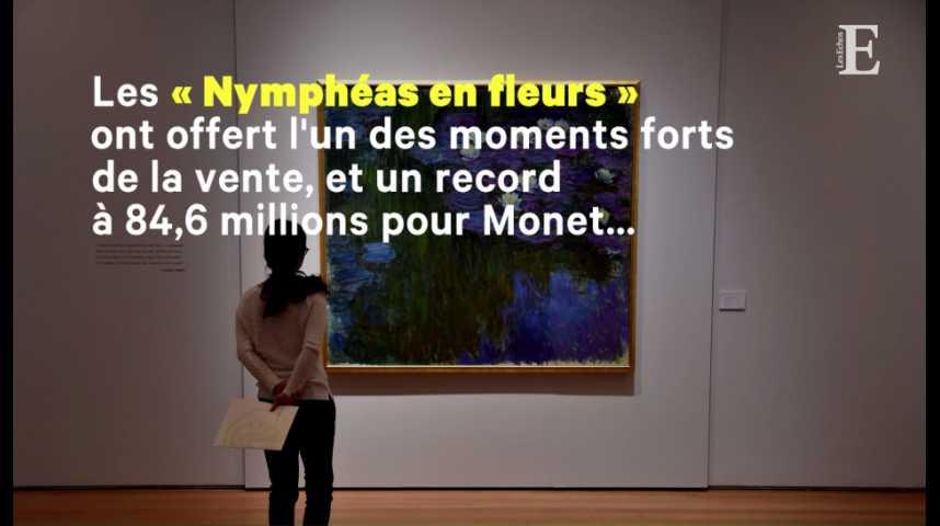 Illustration pour la vidéo Art : la vente Rockefeller a rapporté plus de 830 millions de dollars