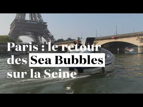 Paris : les Sea Bubbles reviennent sur la Seine