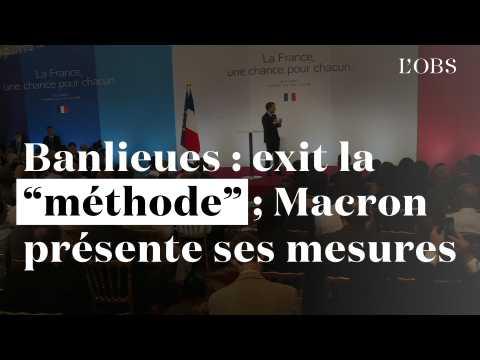"""Banlieues : exit la """"méthode"""", Macron présente ses mesures"""