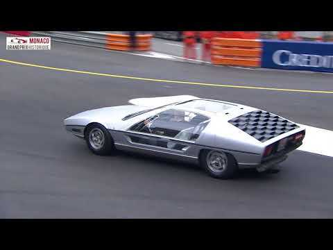 The Lamborghini Marzal made its first outing since 1967 at the GP de Monaco historique driven by Pri