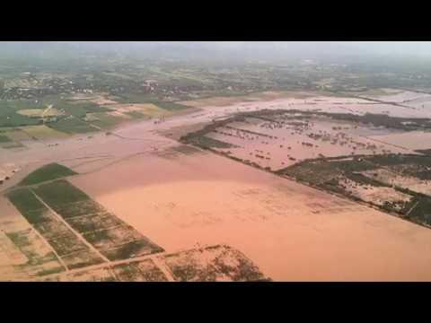 Ouragan Maria : Un drone survole les terrains inondés en République Dominicaine