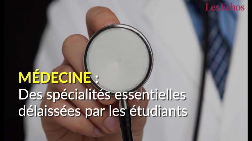 Illustration pour la vidéo Médecine : des spécialités essentielles délaissées par les étudiants