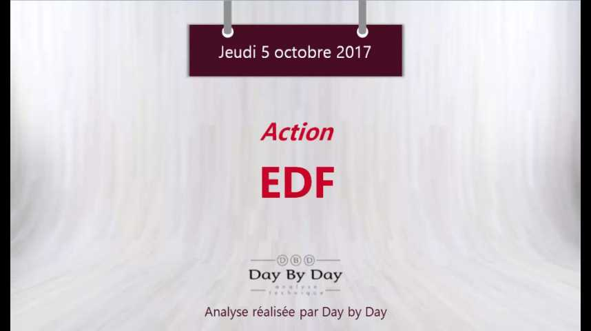Illustration pour la vidéo Action EDF : à l'assaut des niveaux de prix de 2015 - Flash analyse IG 05.10.2017
