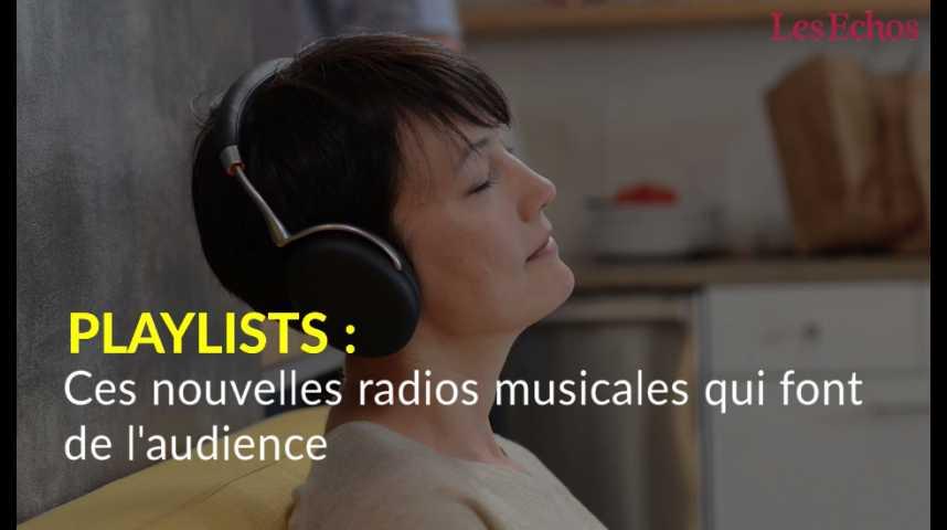 Illustration pour la vidéo Playlists : ces nouvelles radios musicales qui font de l'audience