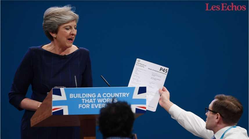 Illustration pour la vidéo Le discours cauchemardesque de Theresa May