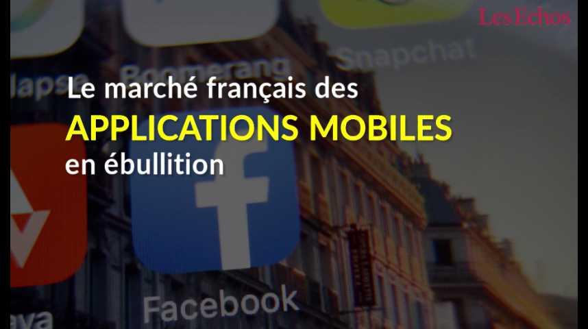 Illustration pour la vidéo Le marché français des applications mobiles en ébullition