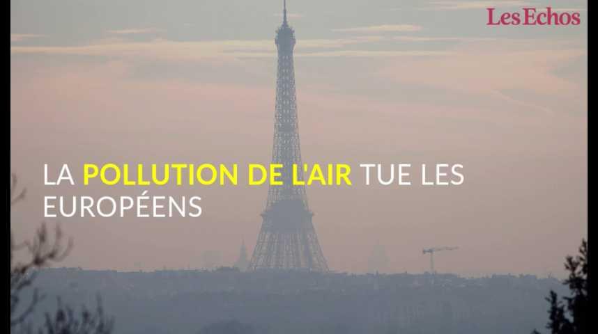 Illustration pour la vidéo La pollution de l'air tue les Européens