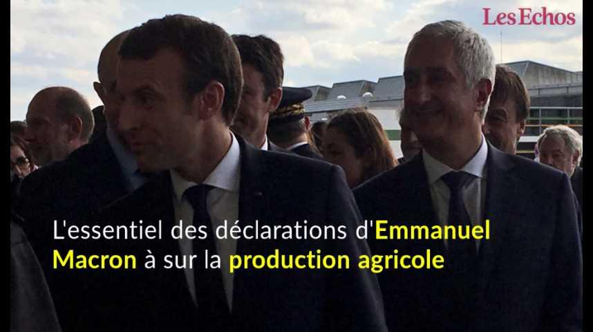 Illustration pour la vidéo L'essentiel des déclarations d'Emmanuel Macron à Rungis sur la production agricole