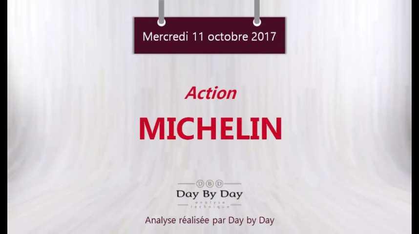 Illustration pour la vidéo Action Michelin : la tendance haussière devrait se poursuivre - Flash analyse IG 11.10.2017