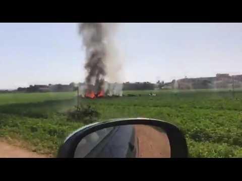 Espagne : un avion militaire s'écrase après un défilé militaire