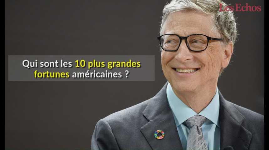 Illustration pour la vidéo Qui sont les 10 plus grandes fortunes américaines ?