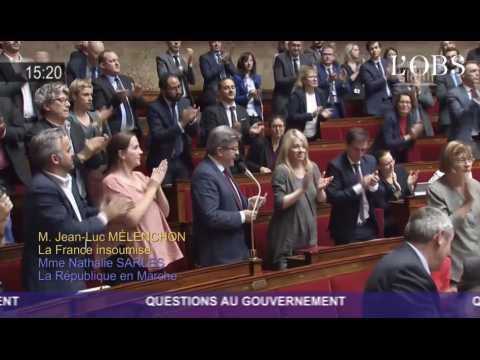 Projets d'attentats d'extrême droite : standing ovation pour Jean-Luc Mélenchon à l'Assemblée