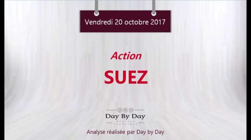 Illustration pour la vidéo Action Suez : risque baissier sous la résistance majeure - Flash analyse IG 20.10.2017