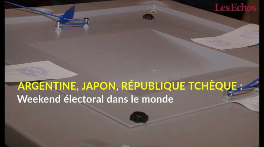 Illustration pour la vidéo Argentine, Japon, République tchèque : weekend électoral dans le monde