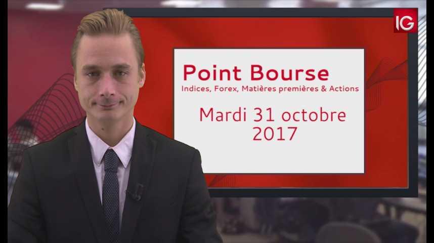 Illustration pour la vidéo Point Bourse IG du 31.10.2017
