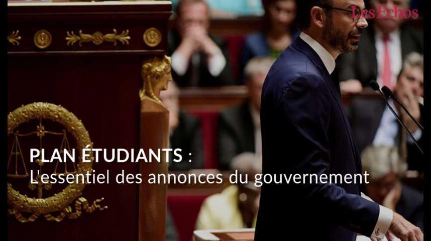 Illustration pour la vidéo Plan étudiants : les principales annonces du gouvernement