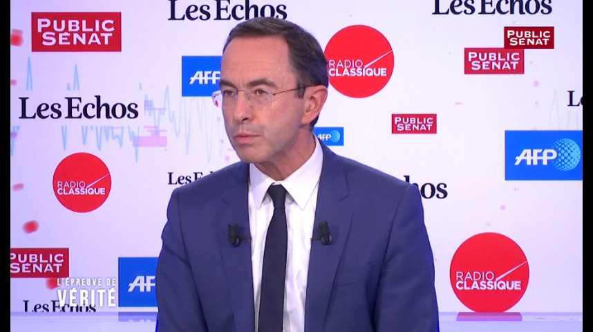 Illustration pour la vidéo Macron, « un prodige de la politique » mais trop « manichéen », selon Bruno Retailleau
