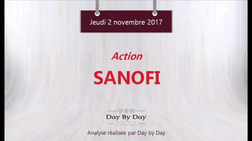 Illustration pour la vidéo Action Sanofi : une configuration baissière - Flash analyse IG 02.11.2017