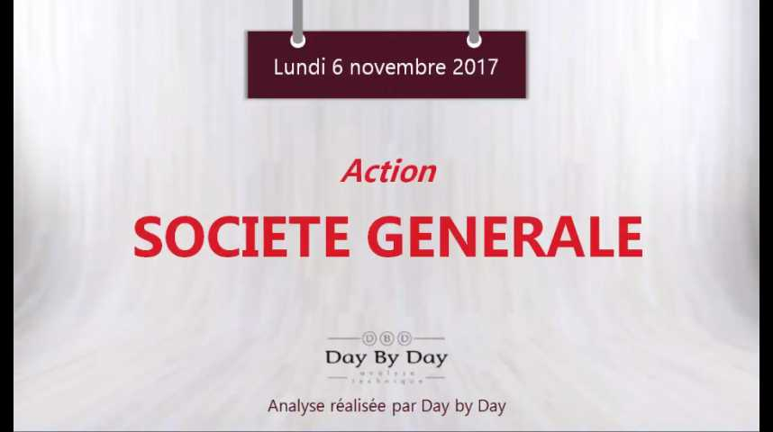 Illustration pour la vidéo Action Société Générale : sortie baissière d'un trading range - Flash analyse IG 06.11.2017