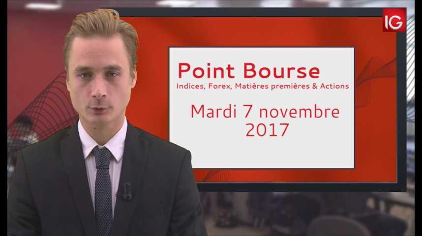 Illustration pour la vidéo Point Bourse IG du 07.11.2017