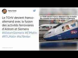 Fusion des activités ferroviaires d'Alstom et de Siemens