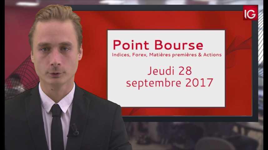 Illustration pour la vidéo Point Bourse IG du 28.09.17