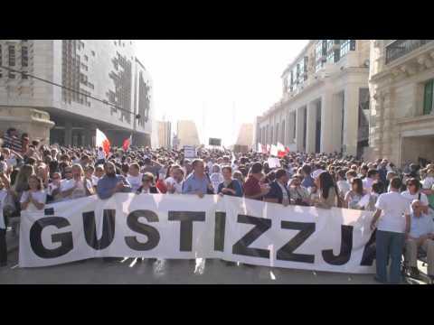 Manifestation à Malte après l'assassinat d'une journaliste anti-corruption