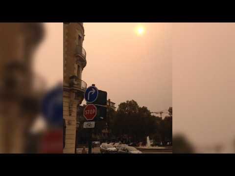 Bretagne : le ciel jaunâtre et apocalyptique causé par l'ouragan Ophelia