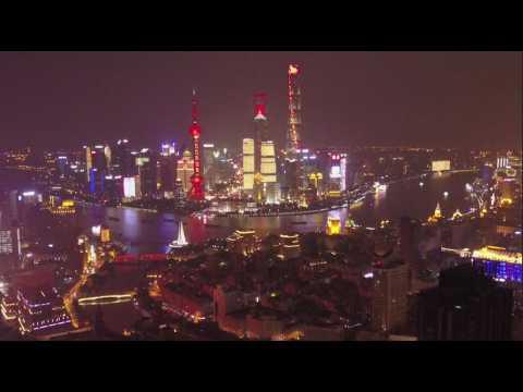 2 minutes d'un vol de drone au-dessus de Shanghai