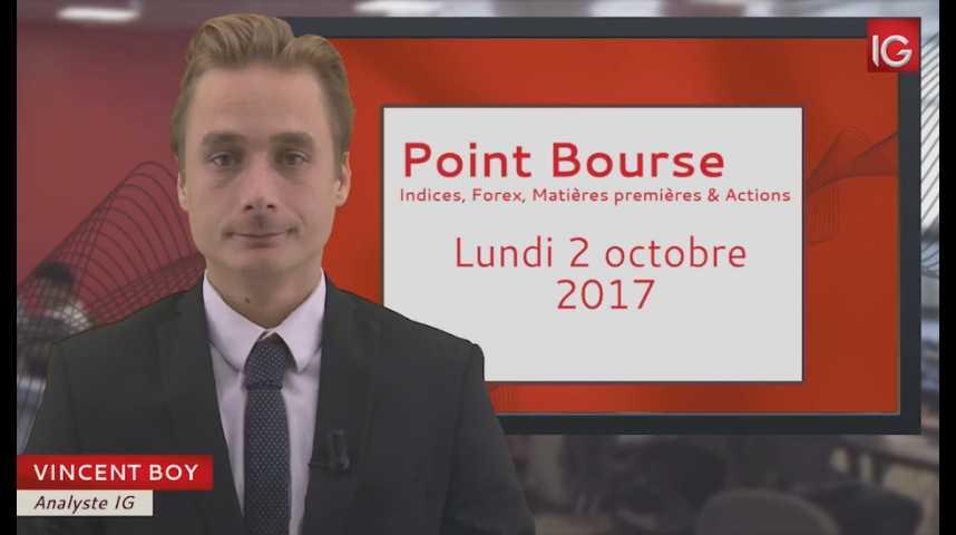 Illustration pour la vidéo Point Bourse du lundi 2 octobre 2017