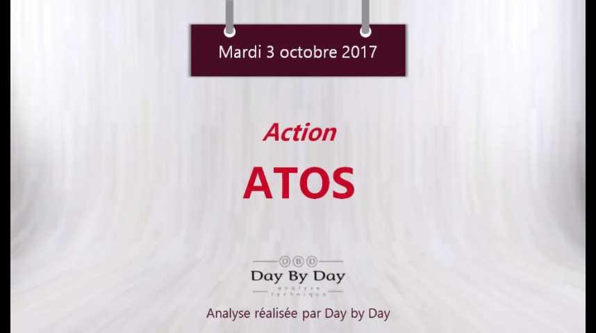 Illustration pour la vidéo Action Atos : sortie d'un triangle ascendant - Flash analyse IG 03.10.2017
