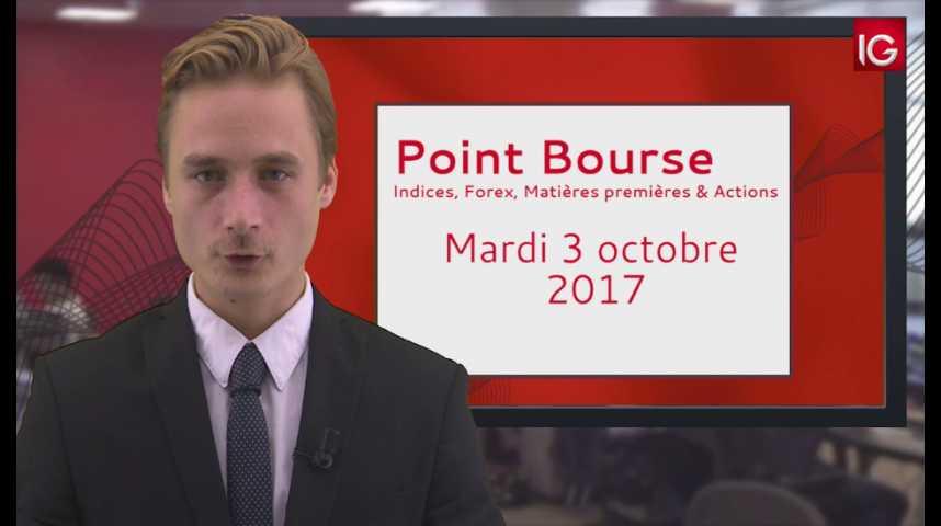 Illustration pour la vidéo Point Bourse IG du 03.10.2017