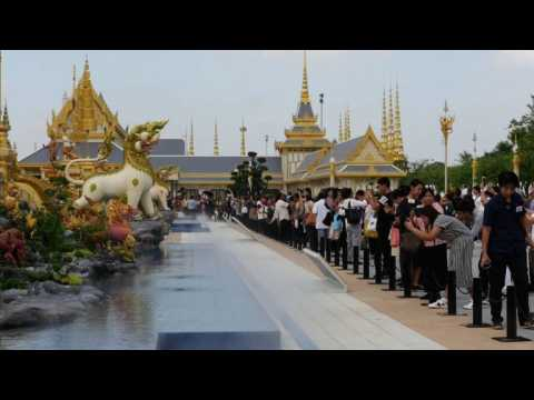 """""""Heaven on Earth"""": crematorium of late Thai king opens to public"""
