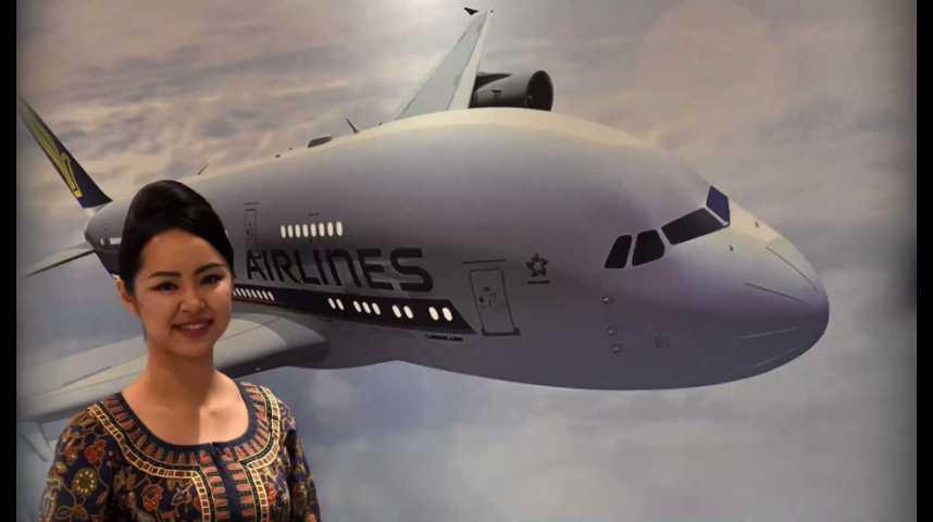 Illustration pour la vidéo Face aux concurrents du Golfe et de Chine, Singapore Airlines mise sur le luxe à la française