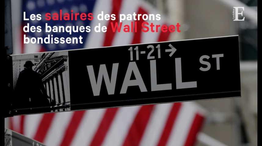 Illustration pour la vidéo Les salaires des patrons des banques de Wall Street bondissent