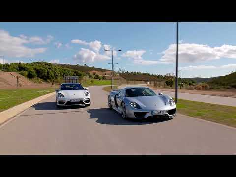 Porsche 918 Spyder & Panamera Turbo S E-Hybrid Sport Turismo in Carrara White Metallic