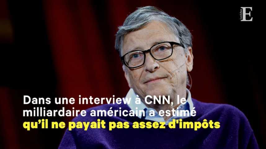 """Illustration pour la vidéo Bill Gates: """"Je devrais payer davantage d'impôts"""""""