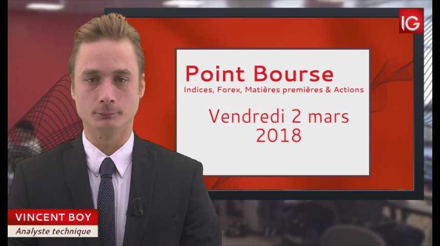 Illustration pour la vidéo Point Bourse du vendredi 2 mars 2018