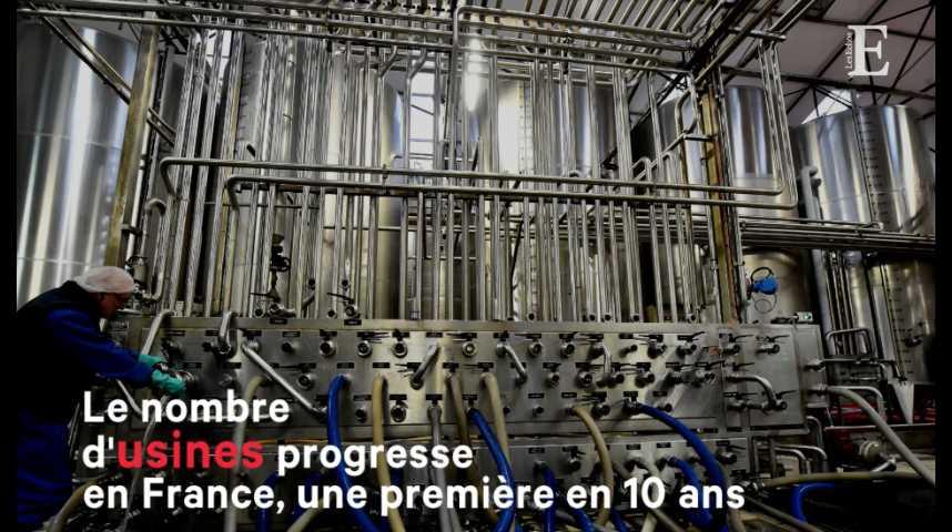 Illustration pour la vidéo Pour la première fois depuis 10 ans, le nombre d'usines progresse en France