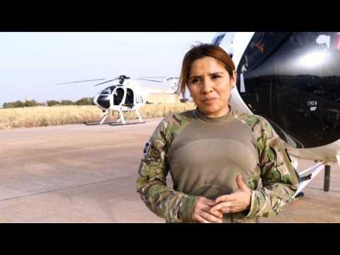Sandra Hernandez: the lone female pilot in a UN desert unit