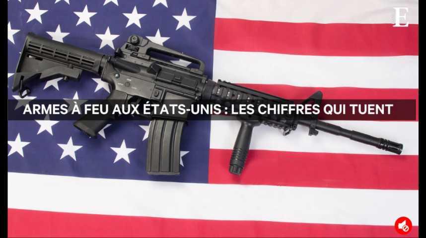 Illustration pour la vidéo Armes à feu aux Etats-Unis: les chiffres qui tuent
