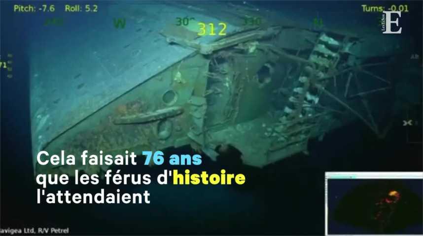 Illustration pour la vidéo L'épave d'un des premiers porte-avions américains retrouvée au large de l'Australie