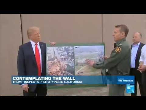 US - Donald Trump inspects wall prototypes in California