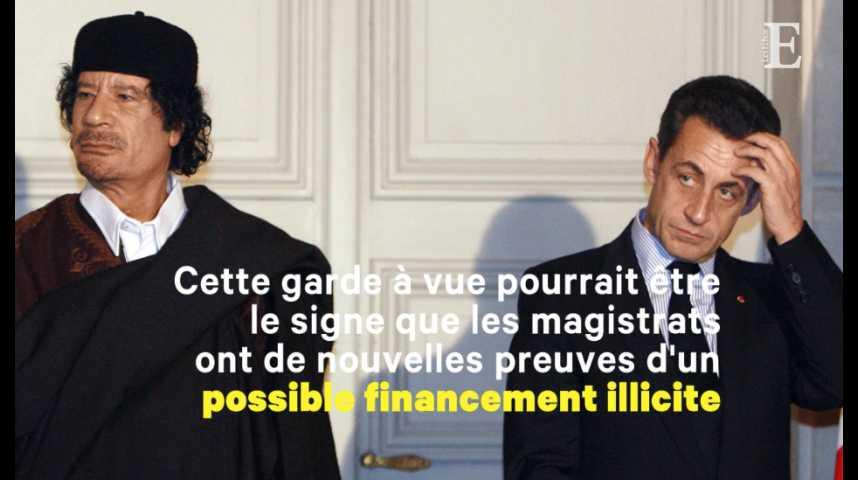 Illustration pour la vidéo Financements libyens : Nicolas Sarkozy en garde à vue