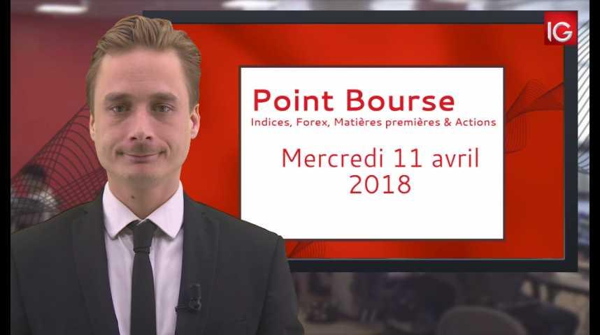 Illustration pour la vidéo Point Bourse IG du 11.04.2018