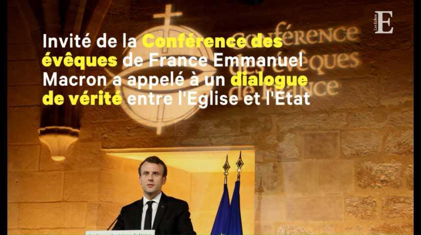 """Illustration pour la vidéo Macron veut """"réparer"""" le lien avec les catholiques"""