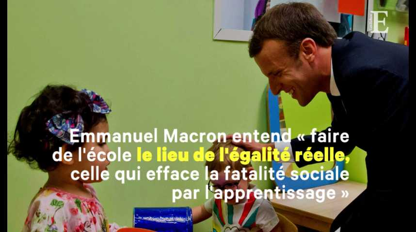 Illustration pour la vidéo Emmanuel Macron rend l'école obligatoire dès 3 ans